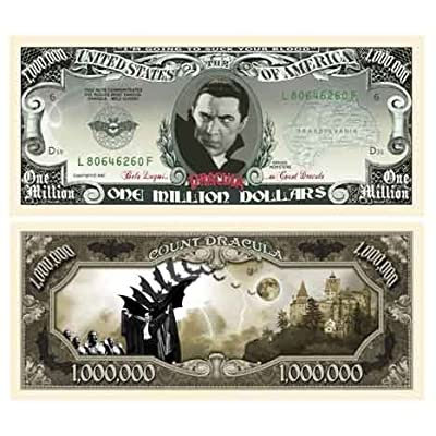 American Art Classics Dracula Million Dollar Bill - (Pack of 5): Toys & Games