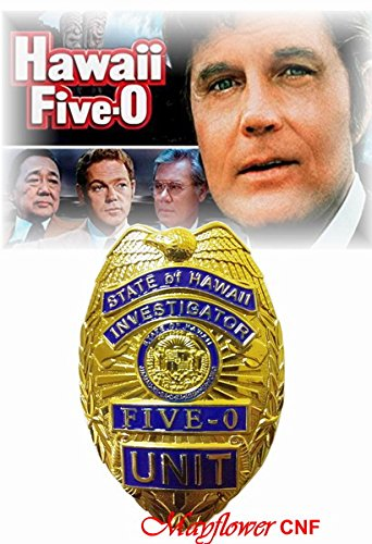 Mayflower CNF Collection - State of Hawaii Five-O Unit Investigator Badge Replica - Jack Lord, Movie /TV series classical Prop from Mayflower CNF