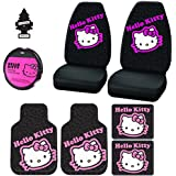 New Design Hello Kitty Car Seat Covers Floor Mats Accessories Set With Air Freshener