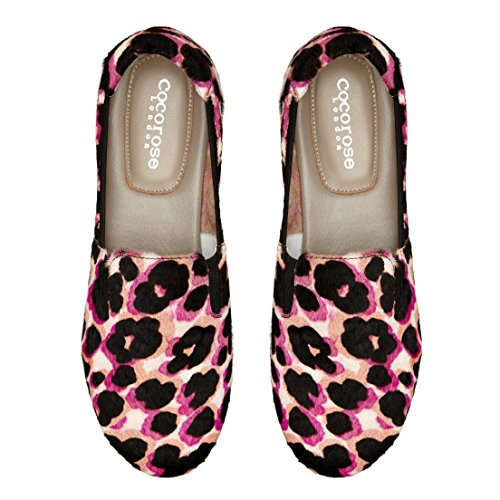 Cocorose Faltbare Schuhe - Carnaby Damen Espadrilles Rose Et Poils De Poney Noir