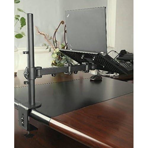002-0005 EZM Notebook//Laptop Arm Extenstion Mount Desktop Stand Clamp with Grommet Mount Option