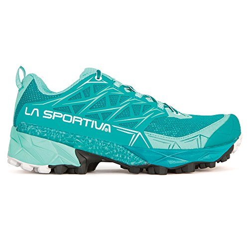 La Sportiva Women's Akyra Mountain Running Shoe, Emerald/Mint, 38.5 M EU