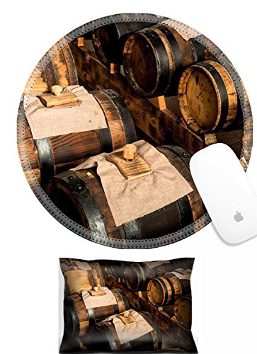 Luxlady Mouse Wrist Rest and Round Mousepad Set, 2pc IMAGE: 23506133 modena balsamic vinegar barrels for storing and aging