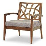 Baxton Studio Jennifer Modern Lounge Chair with Fabric Seat, Gray
