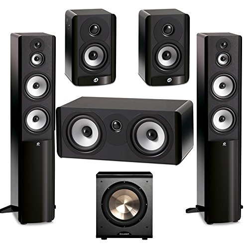 Boston Acoustics 5.1 System with 2 A360 Floorstanding Speakers, 1 A225C Center Channel Speaker, 2 A23 Bookshelf Speaker,