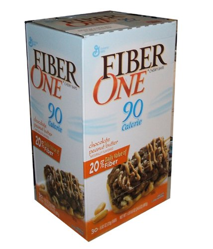 Fiber One Chewy Bars Chocolate Peanut Butter 90 Calorie Bars 30 Count Box by Fiber One