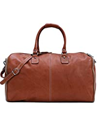 Convertible Full Grain Leather Garment Duffle Bag - Floto Parma Edition