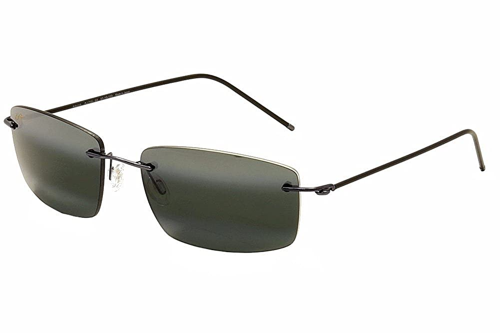 19b798128de Maui Jim 715-06 MP-8G Gunmetal bue Sandhill Rimless Sunglasses Polarised  Lens C  Amazon.co.uk  Clothing