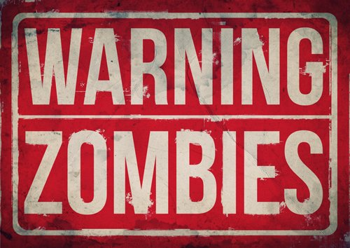 Zombie cartel, cartel de advertencia Zombie, zombies, Zombie ...
