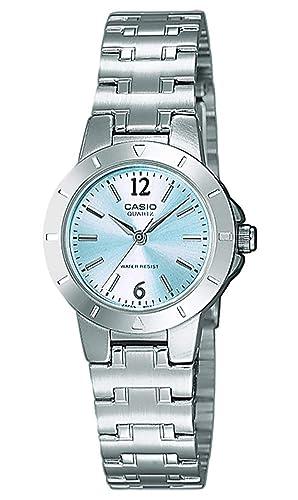 8d201c25a4dd Casio Reloj Analógico para Mujer de Cuarzo con Correa en Acero Inoxidable  LTP-1177PA-2AEF  Amazon.es  Relojes