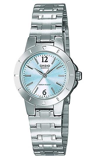 minorista online 33176 39b58 Casio Reloj Analógico para Mujer de Cuarzo con Correa en Acero Inoxidable  LTP-1177PA-2AEF