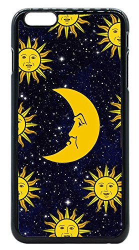Vintage Retro Sun Moon Space Nebula Pattern iPhone 6 Plus / iPhone 6S Plus (5.5) Hard Case Back Cover