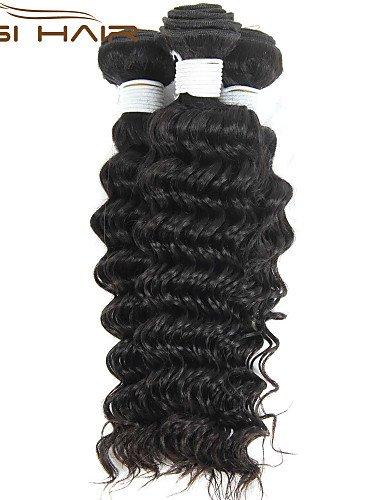 Brazilian Color Humains Faisceaux 24 natural Reine Qualité Tisse Supérieure Cheveux Vierge 24 Armure Profonde Beauté 3 Vague Jff zqIHtTw