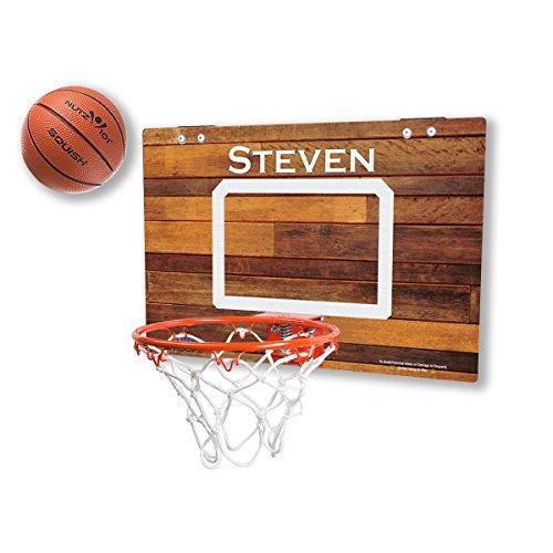 Personalized Classic Wood Imaged Mini Basketball Hoop (Mini Basketball Personalized)