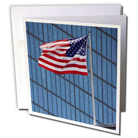 3dRose MA, Boston, Back Bay, American flag - US22 LEN0287 - Lisa S. Engelbrecht - Greeting Cards, 6 x 6 inches, set of 12 - Plaza Ma