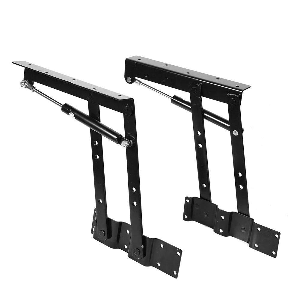Huairdum Folding Hydraulic Hinge, 2 Pcs Practical Lift Up Coffee Top Table Mechanism Fitting Hinge Spring Standing Desk Frame Hardware Top Lifting Frame Furniture by Huairdum