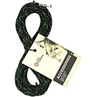 GM CLIMBING 6mm Accessory Cord Rope Double Braid Black with Green Flecks Pre Cut CE