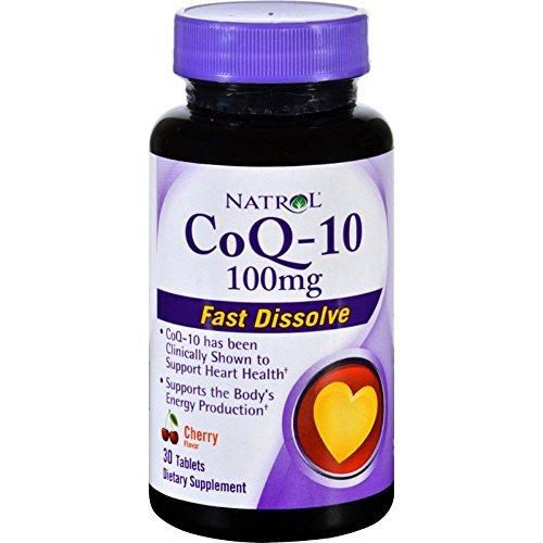 Natrol CoQ-10 - Cherry Flavor - 30 Tablets