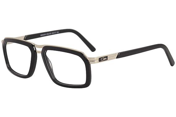 ebd1d60166e Amazon.com  Cazal 6014 Eyeglasses 001 Black-Gold Clear Lens 55 mm ...