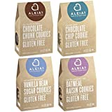 Aleia's Gluten Free Cookies Sampler Pack 4 Flavors (Chocolate Chip, Oatmeal Raisin, Vanilla Bean Sugar, Chocolate Chunk)