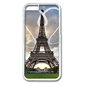 iCustomonline Eiffel Tower in Love Designed iPhone 6 (4.7 inch) Hard Back PC Transparent Case