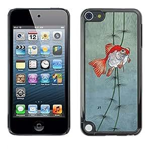 TopCaseStore / la caja del caucho duro de la cubierta de protección de la piel - Pond Gold Underwater Fisherman Dive - Apple iPod Touch 5