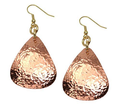 Hammered Tear Drop Copper Earrings – John S Brana Handmade Jewelry Durable Copper Earrings