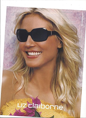 --PRINT AD-- With Heidi Klum For 2003 Liz Claiborne Sunglasses --PRINT - Sunglasses Liz