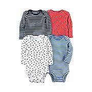 Carter's Baby Boys' Multi-Pk Bodysuits 126g600, White, 6 Months
