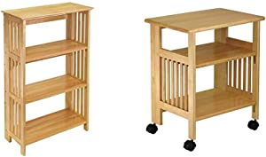 Winsome Wood Mission Shelving, Natural & Wood Mission Home Office, Natural