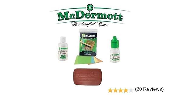 McDermott Kit de mantenimiento de billar taco de billar cañas mcmagic Micro burnishing documentos + Ultra-Glide eje Acondicionador + limpiador de renovar eje + Pad eje Acondicionador de Cuero: Amazon.es: Deportes y