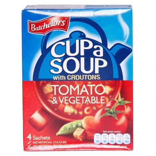 Batchelors Cup a Soup with Croutons Tomato & Vegetable 104g (Pack of 3)