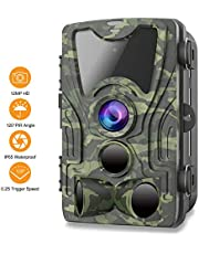 $59 » FHDCAM Trail Camera,1080P HD Wildlife Game Hunting Cam with Motion Activated Night Vision, 120° Wide Angle Lens, Waterproof Wildlife Camera for Outdoor Surveillance