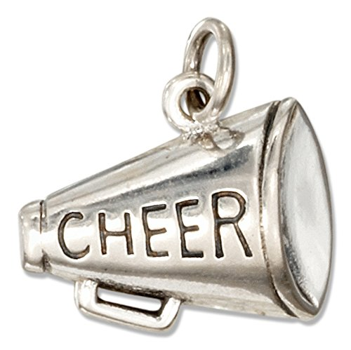 Sterling Silver Megaphone Charm with