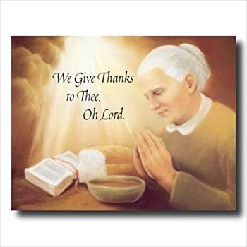 Amazon Com Gratitude Lady Praying At Dinner Table Daily