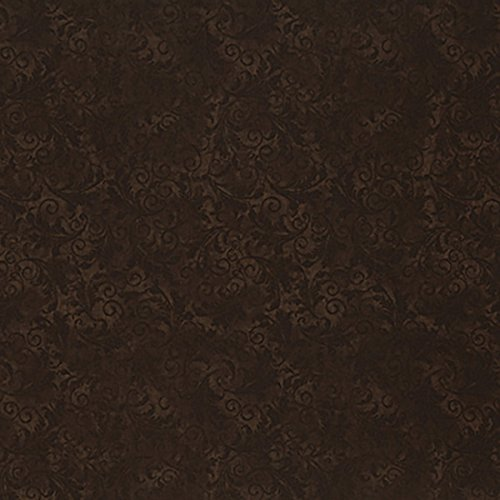 Timeless Treasures Fabrics Echo Chocolate Tonal Filigree ()