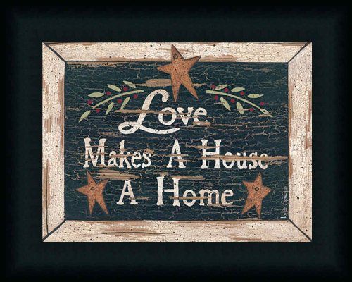 Loves Makes a Home by Linda Spivey Primitive Country Decor 15x12 Framed Art Print Picture Wall Decor Linda Spivey Country Framed Picture