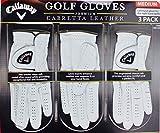 Callaway Premium Cabretta Leather Golf Gloves, Medium, 3-Pack
