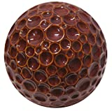 Alpine TOM242RD Ceramic Gazing Globe, 10'', Red