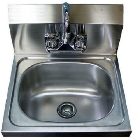 WALL HUNG HAND SINK WITH FAUCET 17 x 15 x 5