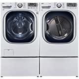 Power Pair Special-LG Turbo Series Ultra-Capacity Laundry System with Steam and Matching Storage Pedestals*PURE WHITE COLOR*(WM4270HWA_DLEX4270W_WDP4W X 2)