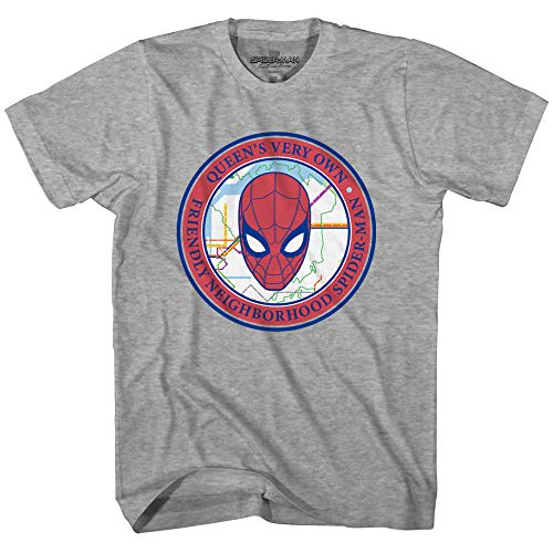 Marvel Spiderman Spider-Man Far from Home Friendly Neighborhood T-Shirt(Heather Grey,Large) (Spiderman The New Animated Series Green Goblin)