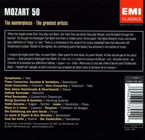 Mozart: The Collector's Edition - (50 CD Set) Including Symphonies (selection), Piano Sonatas, Concerti, Masses, Operas (Nozze di Figaro, Zauberflote, Cosi fan Tutte), etc.