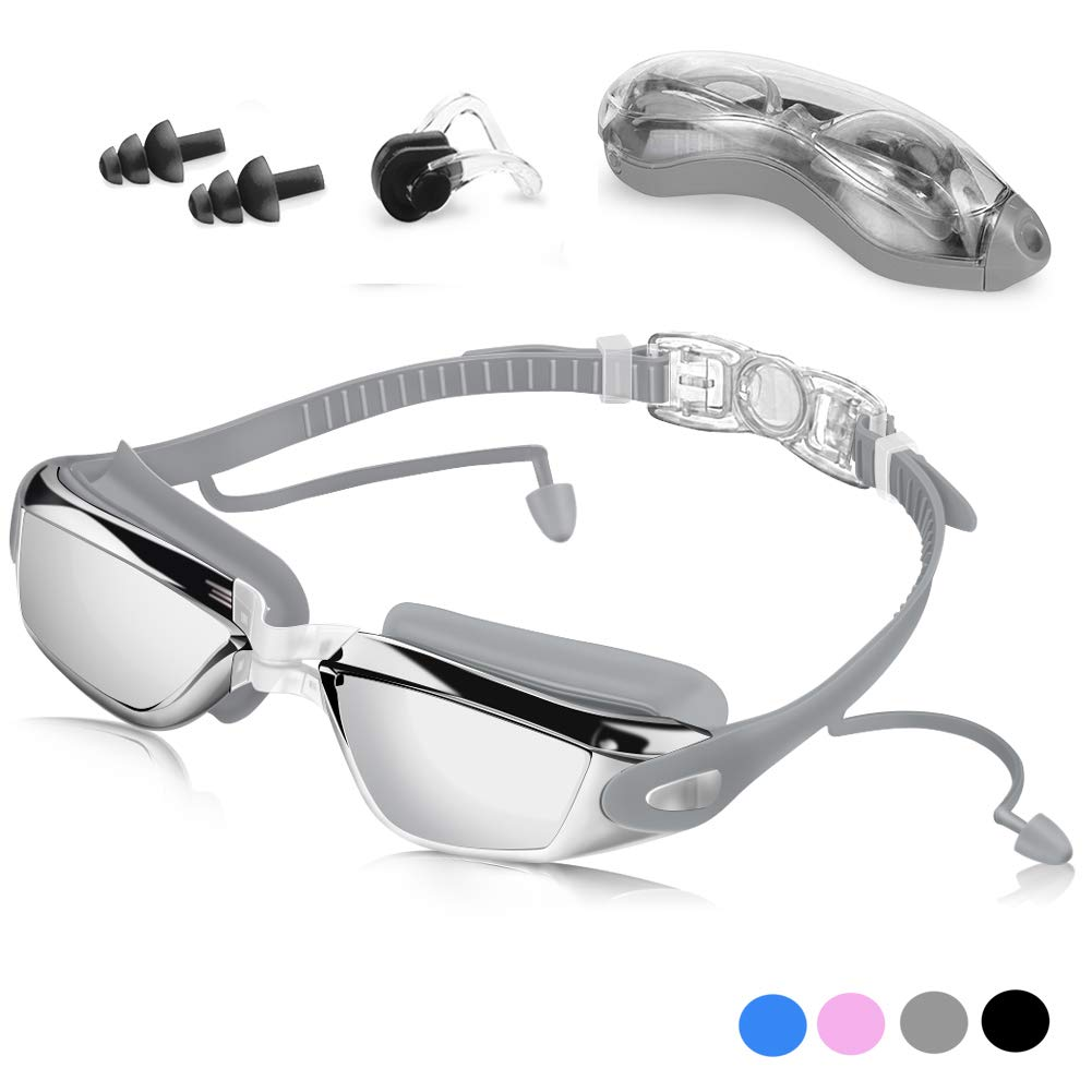 Kids Swim Glasses Adjustable Swimming Goggles Anti-Fog UV Children Boys Girls WO