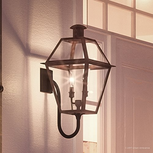 Luxury Historic Outdoor Wall Light, Large Size: 23.5