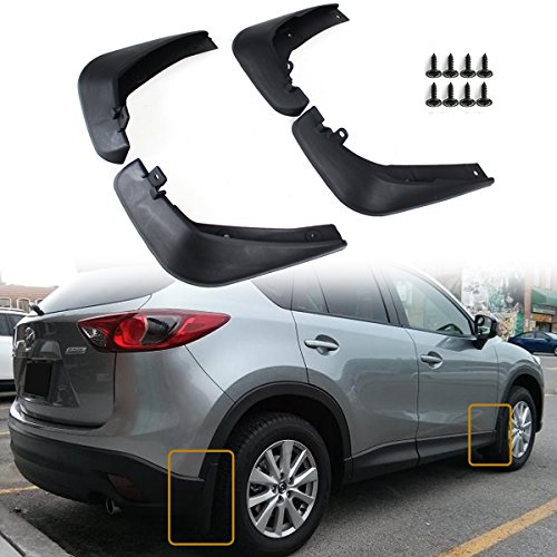 Cuztom Tuning 4pcs Front & Rear Splash Mud Flaps Guards Fits for 2013-2016 Mazda CX-5 CX5
