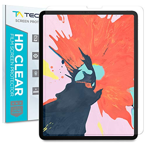 Tech Armor Anti-Glare/Anti-Fingerprint Plastic Film Screen Protector (Not Glass) Designed for Apple iPad Pro 12.9-inch (New 2018) [2-Pack]