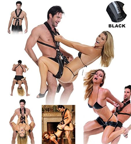 Dimlan Bondage Restraints Kit,Sex Bondageromance Restraints,BDSM SM S&M Sex Harness Set-Adjustable Straps,Sex Cuffs for Wrists and Ankle for Bed.Toys Adult Sex For Couples 4 by Dimlan