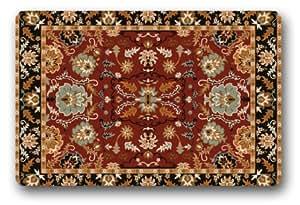 Fabulous Store Custom Graceful Flower Design Fabric Machine-wahable Non-woven Doormat Indoor/Outdoor