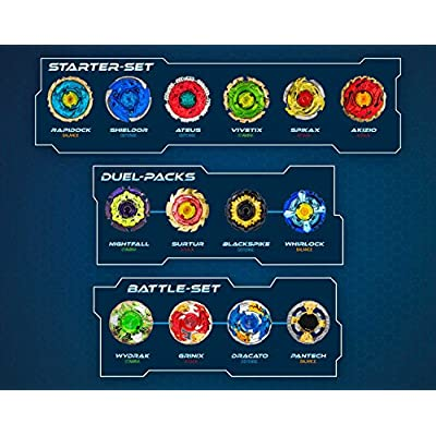 CRAZE BLADEZ 4er Set Gyro Metal Accessories Battle Arena 10600, Multicolored: Toys & Games
